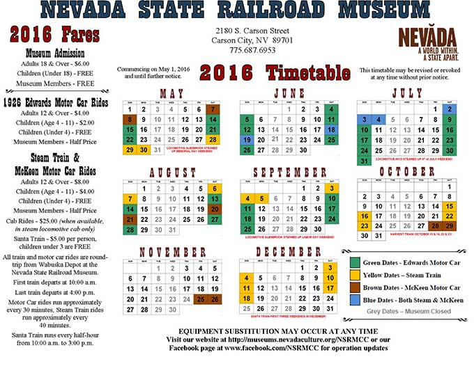 2016 Time Table