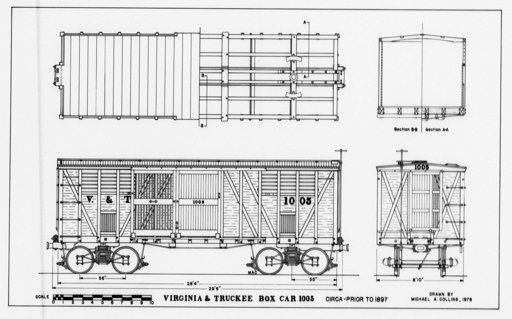 V & T Box Car #1005