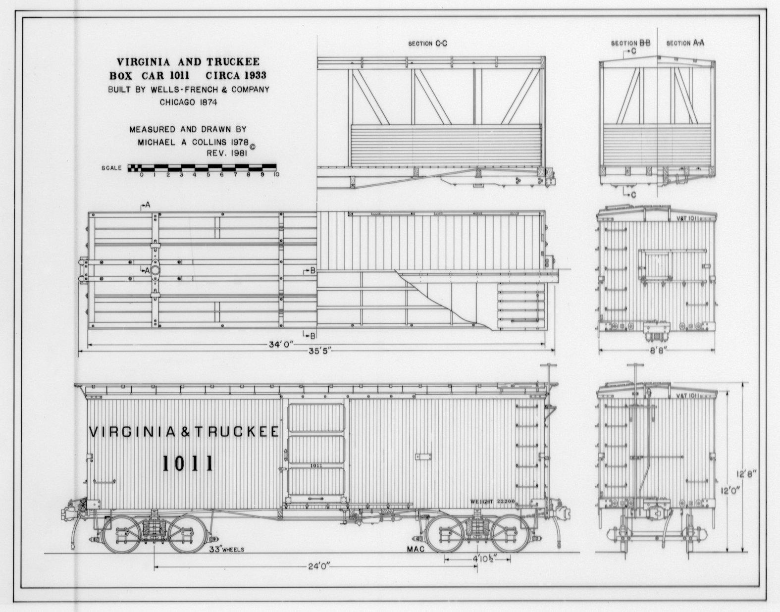 V Amp T Box Car 1011