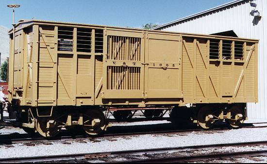 Virginia & Truckee box car 1005.