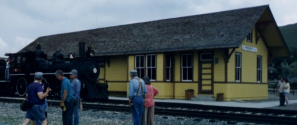 Photo of Wabusca Depot at the museum